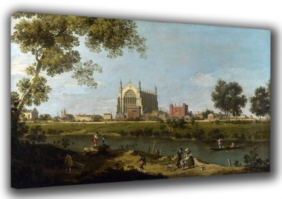 Canaletto: Eton College. Fine Art Canvas. Sizes: A3/A2/A1 (003450)